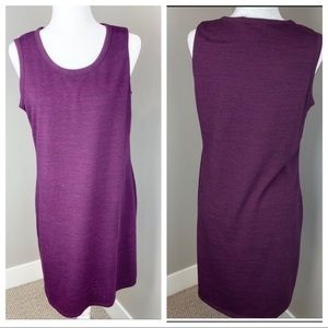 32 DEGREES PURPLE POCKETED SHIFT DRESS